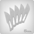 Scalpel blades, 5 pieces, for use in a scalpel handle