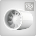 Axial Fan Silent, 100 m3/h, 100mm