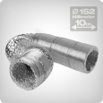 Flexible ventilation ducting 10 metres, diameter: 152 mm