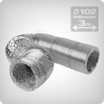 Flexible ventilation ducting 3 metres, diameter: 102 mm