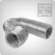 Flexible ventilation ducting 3 metres, diameter: 127 mm