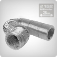 Flexible ventilation ducting 3 metres, diameter: 152 mm
