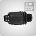Male threaded adaptor 16 x 3/4