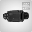 Male threaded adaptor 20 x 3/4