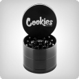 Cookies 4-Piece Grinder by Santa Cruz Shredder, medium gloss black