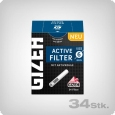 Gizeh Black Active Charcoal Filters, 34 pcs