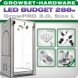 Growbox GrowPRO L, Grow Tent Set, LED 288W