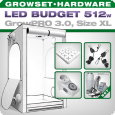 Growbox GrowPRO XL, Grow Tent Set, LED 512W