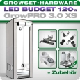 Growbox GrowPRO XS, Grow Tent Set, LED 128W